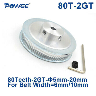 80 Teeth 2GT Pulley Bore 5/6.35/8mm for Width 6mm GT2 Timing Belt 80teeth 80T
