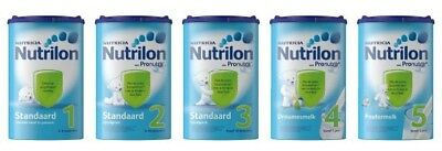 4 Packs Of Nutrilon standaard 1-2-3-4 and 5 850 g