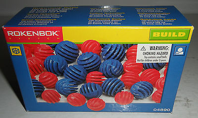 Official SEALED BOX 100 Rokenbok System Accessories Cargo Balls 50 Blue/50 Red