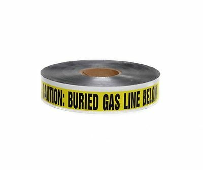 "3"" x 1000' Detectable UNDERGROUND TAPE CAUTION BURIED GAS LINE BELOW Yellow"