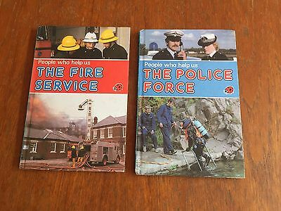 Vintage 2 Ladybird Books: People Who Help Us  Fire Service & Police Force