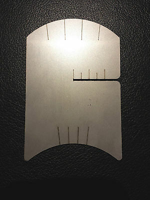 Violin Bridge Making Template Tool, String Spacing Marker & Bow Rehair Gauge