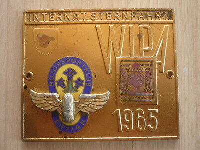 Oldtimer WIPA MSC Enzian Internationale Sternfahrt Plakette 1965 Wien K+K Post
