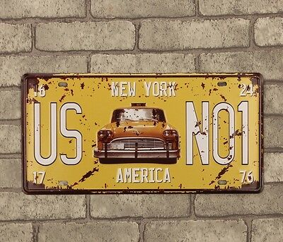 Car License plate Metal Tin Sign / Wall Decor Vintage Sign Tin Plaque
