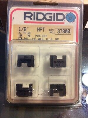 Ridgid 37900 1/8  NPT Pipe Threading Stainless Steel Die Set **FREE & RIDGID 37900 1/8