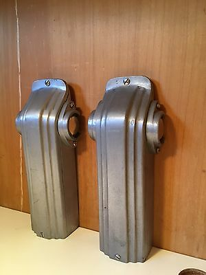 Exquisite Orig Art Deco/Skyscraper Bowling Alley Foul Lights'30s-'60s Solid Alum