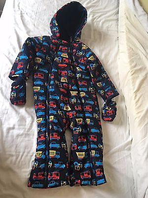 M&S Vehicle Snowsuit with Attached Gloves | 18-24 Months Pristine Condition