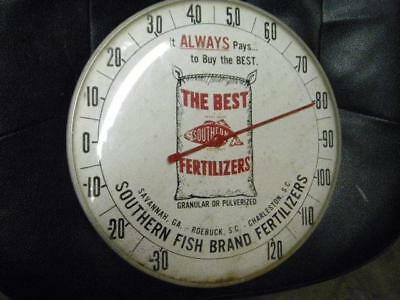 Old SC NC Southern Fish Brand Fertilizer 12 Inch Thermometer Bag Original