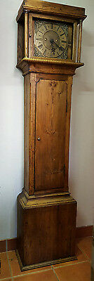 Antique 18th Century Brass Faced 8 Day Grandfather Clock Geo.Brownless Staindrop
