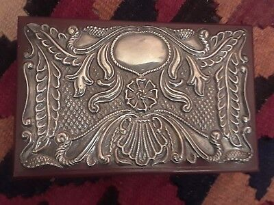 Sterling Silver Mahagony Box