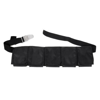 Heavy Duty Scuba Diving 5 Pocket Adjustable Weight Belt Free Dive Equipment