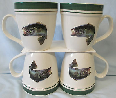 Tienshan Folkcraft Jumping Bass Mug set of 4