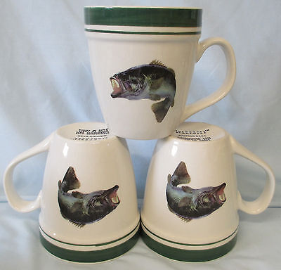 Tienshan Folkcraft Jumping Bass Mug set of 3