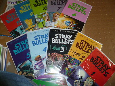 STRAY BULLETS #1-41 - Complete Series! - #2 & 3 Signed by LAPHAM!!! - EL CAPITAN