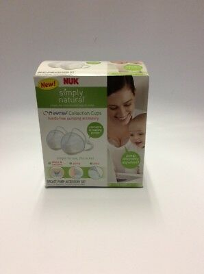 NUK Simply Natural Freemie Breast Milk Collection Cups New Sealed