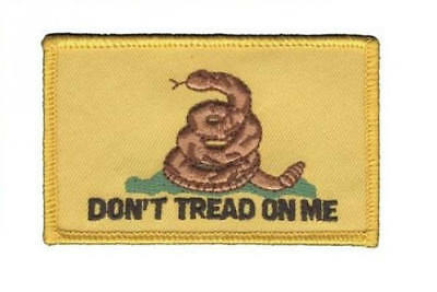 Don't Tread On Me Embroidered Patch / Iron On Applique, Gadsen Flag