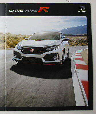 "Hard to Find: 2017 Honda CIVIC TYPE R Brochure Incl. 11""x17"" frameable poster"
