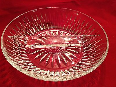 Princess House Highlights Lead Crystal Divided Serving Dish #870