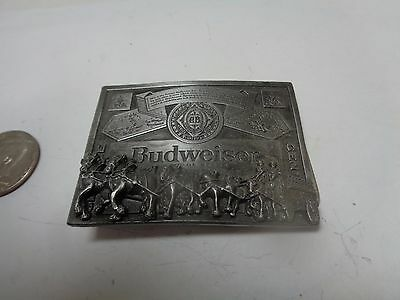 Vintage Brass Belt Buckle Budweiser Beer