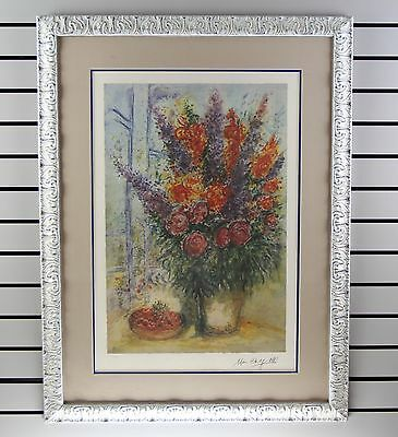 """Marc Chagall - """"Window Floral"""" - Framed- w/ COA - No Reserve!"""