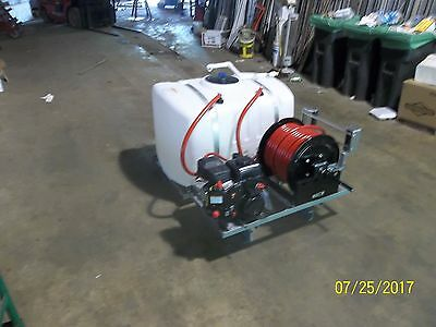 SKID SPRAYER 100 GL w/ LCT 5.0HP ENG WITH HYPRO 4101XL PUMP 250' 1/2' HSE & REEL