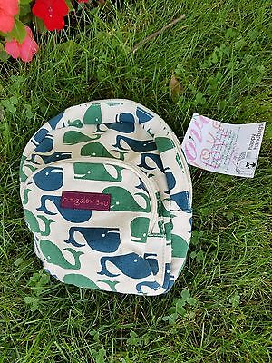"""Bungalow360  Mini Backpack 9"""" X 9"""" Vegan Cotton Canvas Whale Print, new with Tag"""