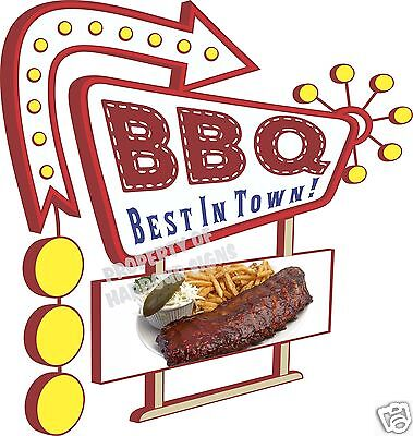 """BBQ Ribs 14"""" DECAL Concession Food Truck Trailer Vinyl Sticker Sign"""