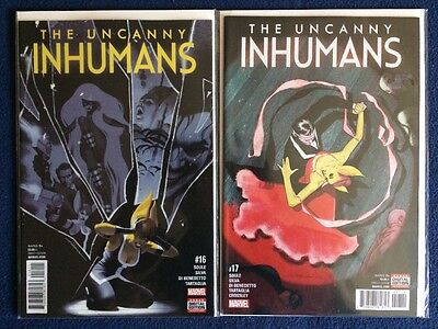 The Uncanny Inhumans # 16 and 17 Marvel Comics NM 2017