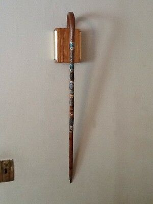 vintage german cane with 10 stocknagel travel badges