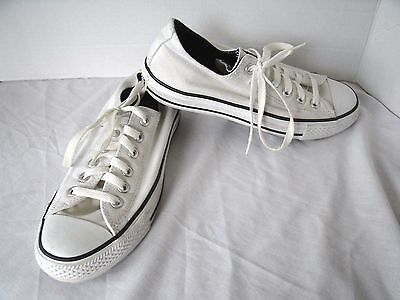 CONVERSE ALL-STAR Low Top White Canvas Sneakers Shoes Size Women's 8 Men's 6 EUC