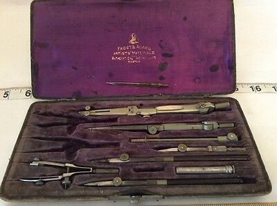 Early Drawing Instruments by Frost and Adams-RARE