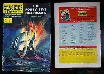 Classics Illustrated #113 (1st print) !!  Forty-Five Guardsmen !!  VG+  !!