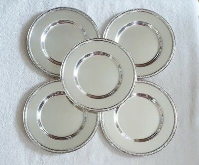 Vintage 1847 Rogers Bros HER MAJESTY Silver Plate Dessert Cake Plates (5)