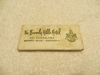 Vintage BEVERLY HILLS HOTEL AND BUNGALOWS Sewing Kit; Never Used; Advertising