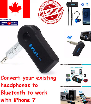 Bluetooth Transmitter V3.0 Wireless Stereo Audio 3.5mm Receiver Adapter Car AUX