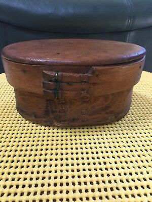 Exceptional Hand Made Antiques Oval Box With Lid In Amazing Condition