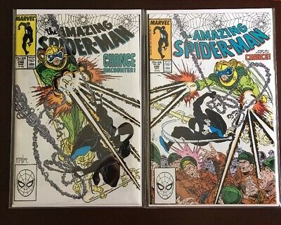 Amazing Spider Man #298 AND #299! 1st McFarlane 1st Cameo of Venom! Gorgeous!!