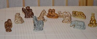 Vintage Lot Of 10 Miniature  African Animal Ceramic Porcelain Figurines
