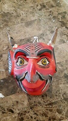 Vintage wooden Devil mask, Church of Satan.