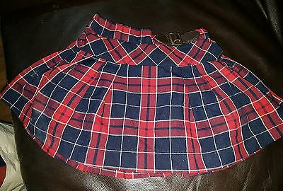 girls next 18-24 months checked skirt spring summer clothes smart red
