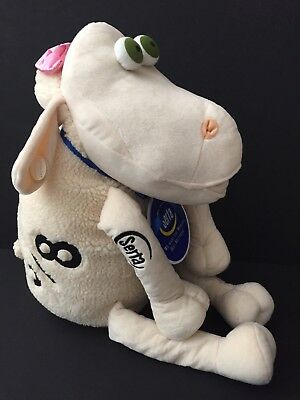 XL Serta Counting Sheep Curto Plush W/ Pink Bow 3/8 Baby Girl, Advertising