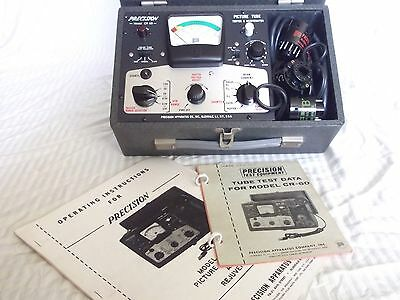 precision CR-60 picture tube tester and rejuvenator with instructions and tube d