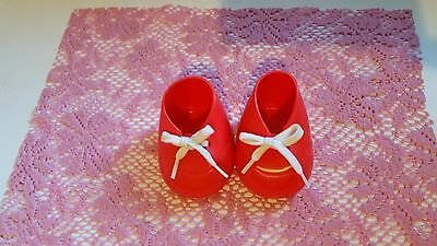 RED OXFORD Vintage Boot Shoes CUTE for My Child Doll - NICE Matching Pr - CHINA