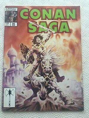 Conan Saga Issue 26 Conan The Barbarian Robert E Howard Roy Thomas John Buscema