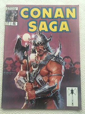 Conan Saga Issue 22 Conan The Barbarian Robert E Howard Roy Thomas Gil Kane
