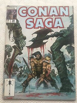 Conan Saga Issue 20 Conan The Barbarian Robert E Howard Roy Thomas Dick Giordano