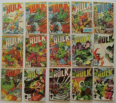 THE INCREDIBLE HULK: 1st Series Huge Lot of 56 - 1975 - 1997 Marvel Comics