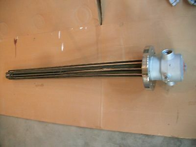 Immersion Fluid Heating Element 480 Volt 3 Phase 25 Kilowatt Explosion Resistant