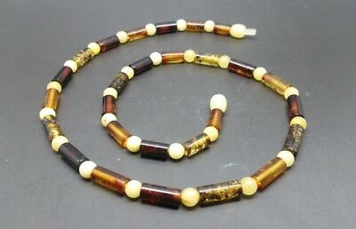 "18,9"" Beautiful Genuine Baltic Amber Necklace for Men/Woman MIX Color"
