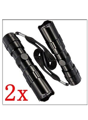 2 Pcs Mini 3W LED Super Bright Flashlight Medical Pen Light Small Torch Keychain
